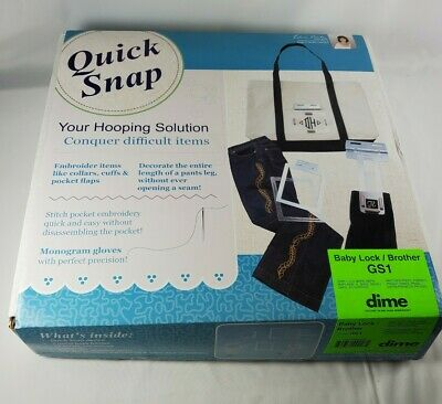 Quick Snap Hooping Solution for Baby Lock / Brother GS1 Dime