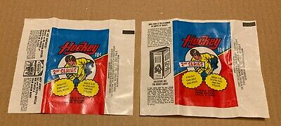 1973-74 OPC Vintage Hockey Wax Pack 2x Wrappers  2nd Series NHL O-Pee-Chee