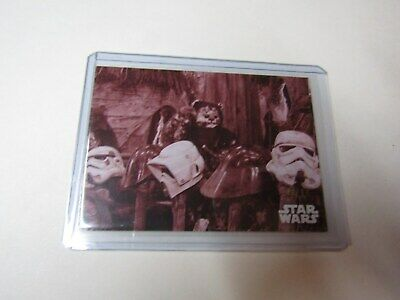 THE FOREST..  STAR WARS B&W RETURN of the JEDI RED HUE SHIFT CARD #130 s/n 06/10
