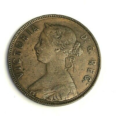 1872 H Newfoundland One Cent, Victoria Canada Large 1C, VF-XF