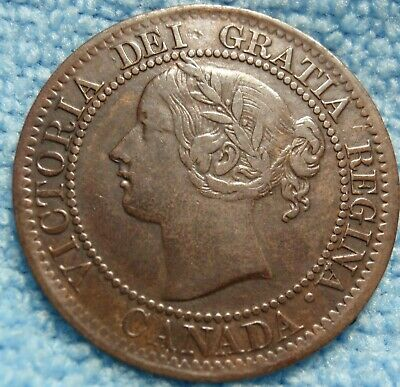 1859 VF High Grade CANADA LARGE CENT Victoria COIN CANADIAN.