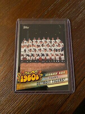 2020 Topps Series 1 Decades Best Detroit Tigers 1960's SP Black #/299