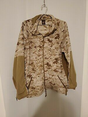 USMC Polartec Digital Desert MARPAT Full Zip Fleece Jacket Large Regular
