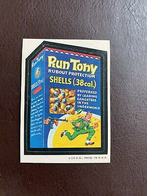 1973  Very Rare Topps Wacky Packages Original 2nd Series RUN TONY