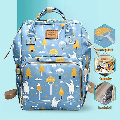 Waterproof Changing Bag Large Mummy Nappy Diaper Baby Backpack Maternity  ~