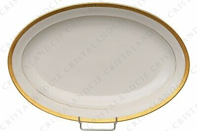 Grand plat ovale incrustations or par Chastanier. Big oval dish gold inlays
