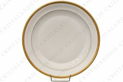Plat rond incrustations or par Chastanier. Round dish gold inlays by Chastanier