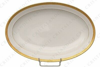 Petit plat ovale incrustations or par Chastanier. Small oval dish gold inlays