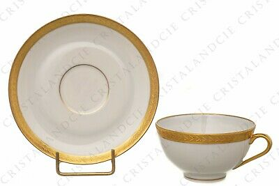 Tasse à café incrustations or par Chastanier. Coffee cup gold inlays Chastanier