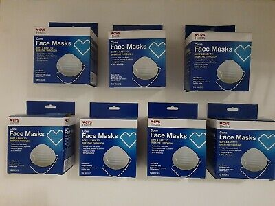 CVS Cone Face Mask Surgical Grade 70 Masks(7 boxes)Virus Protection