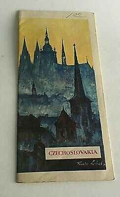 """Vintage 1960's Visitor's Guide Czechoslovakia Tourism 31.5"""" X 8"""""""