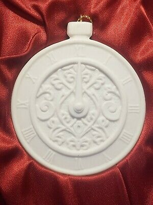 """Demdaco Christmas Wishes """"Time"""" Porcelain Ornament~2002"""