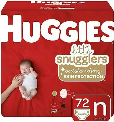 Huggies Little Snugglers Baby Diapers, Size Newborn, 72 Ct