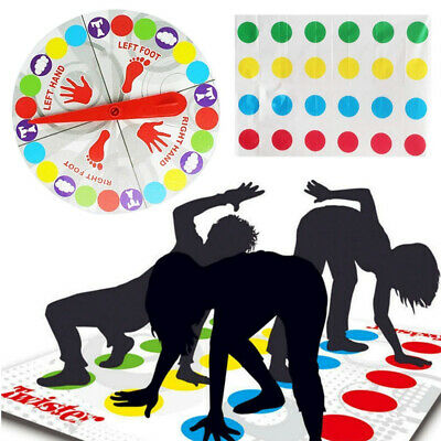 NEW Funny Twister The Classic Game Body Game + 2 More Moves Family Party Games