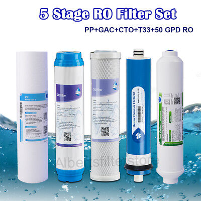 """One Year Refill Cartridge Kit Standard 3 Stage Water Filter System 10/""""x2.5/"""""""