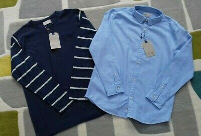 ZARA Boy's Light Blue Oxford Shirt & Casual Top: 11-12 yrs *Brand New*