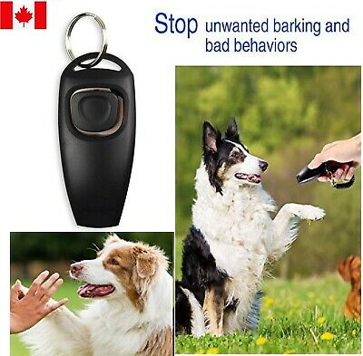 New 2in1 Dog Pet Puppy Cat Training Clicker & Whistle Click Trainer Obedience CA