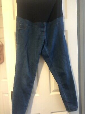 NEXT Maternity Overbump Relaxed Skinny Jeans Size 14R