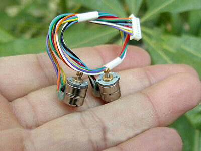 5pair Miniature 8mm 2-Phase 4-Wire Micro Stepping Stepper Motor Copper Gear DIY