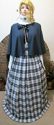 Ladies Victorian Style Cape Skirt Dickensian Christmas Carol Costume New