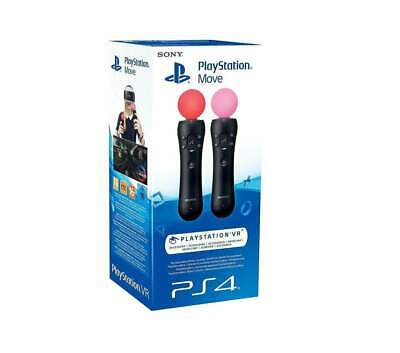 Sony Playstation PS4 Move Wireless Motion Controllers - Twin Pack BNIB
