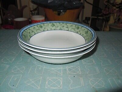 "wedgwood watercolour 3, 6.25""  cereal/oatmeal bowls a   hard to find pattern"