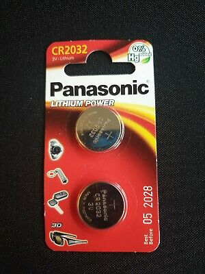 2x Panasonic CR2032 3V Cell Power Lithium Coin Battery (Twin Pack)