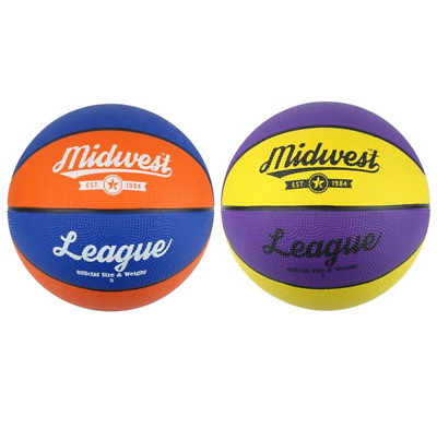 Midwest Basketball League Ball for Indoor & Outdoor Kids Adult Size 3, 5, 6 & 7
