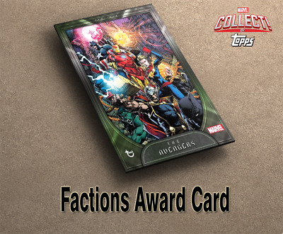 Topps Marvel Collect Digital - The Avengers Factions series 1 award card