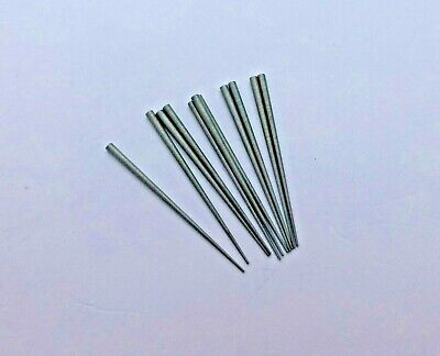 """Clock pins steel ideal for dial hands .35 mm to 1.20 mm  x 10. Length 25 mm (1"""")"""