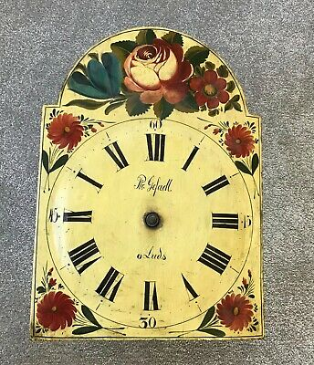 Early Black Forest 'Rope Drive' Shield Clock Face with Movement