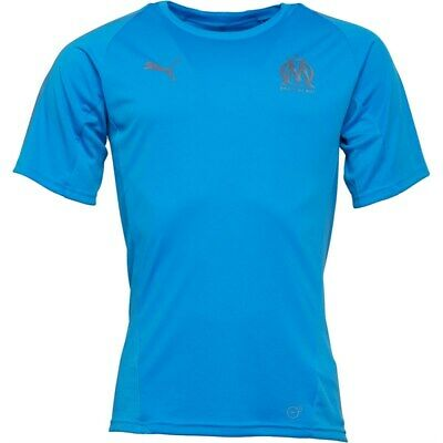 Olympique de Marseille Football Blue Mens Puma Drycell sports training top XS