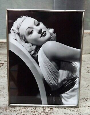 Art Deco Chrome Photo Frame With Black & White Glamour Photo