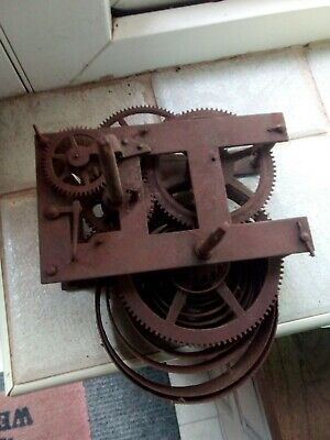 Antique Unbranded Clock Movement ( spares or repair only.)