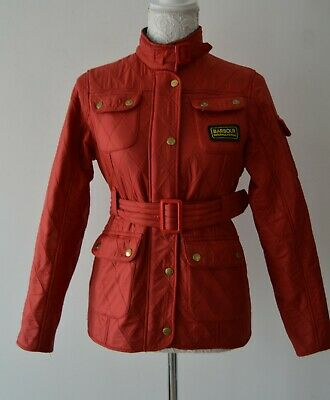 Barbour International Red Quilted Jacket Coat Girls Age XL 12 / 13 Years
