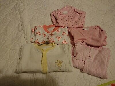 Up To 1 Month small Baby Girls Bundle Tiny Baby x5 items