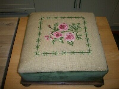 Antique Tapestry Foot Stool