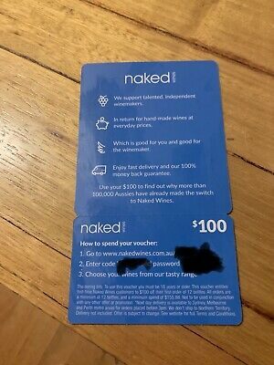 $100 naked wines  gift voucher