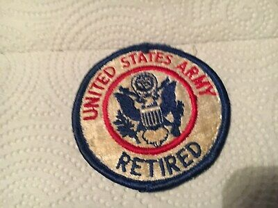 """Vintage UNITED STATES ARMY RETIRED  patch 3.0"""""""