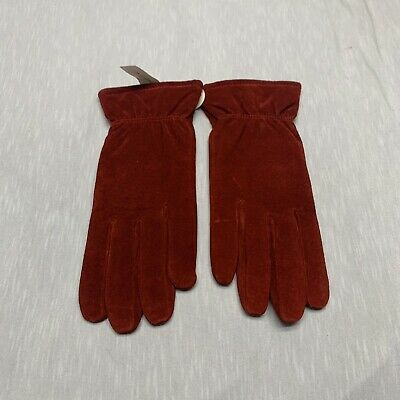 Isotoner Womens Red Stretch Leather Gloves Large New With Tag Motorcycle