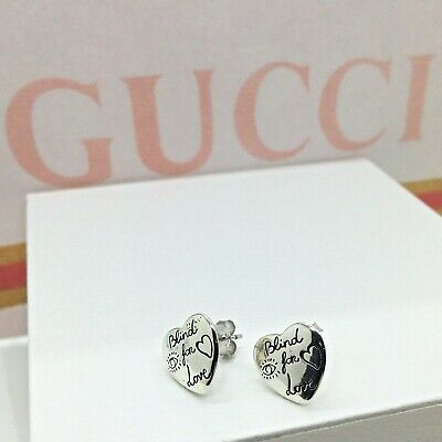 Pendientes BLIND FOR LOVE de Plata de ley 925 Gucci