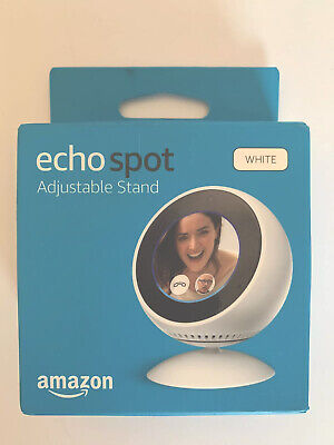 Brand New Echo Spot Adjustable Magnetic Stand In White (Stand Only)