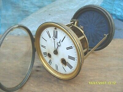 CLOCK PARTS JAPY FRERES & C i E  STRIKING TICKING GLASS DOOR CLOCK PARTS