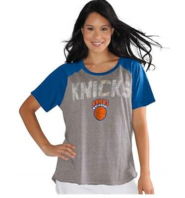Touch by Alyssa Milano NBA New York Knicks Conference Tee Plus, 3X, Heather Grey