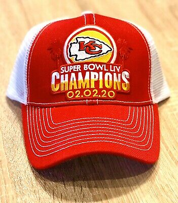 KANSAS CITY CHIEFS SUPERBOWL CHAMPIONS Patch Style Cap Hat 2019 54 LIV RED WHITE