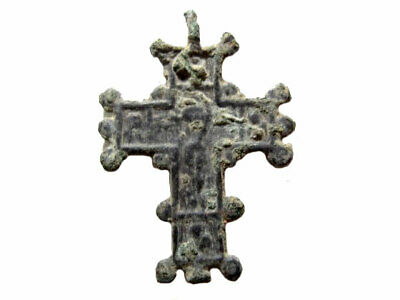 AMAZING ANTIQUE 1800s. ORTHODOX BRONZE ICON CROSS+++
