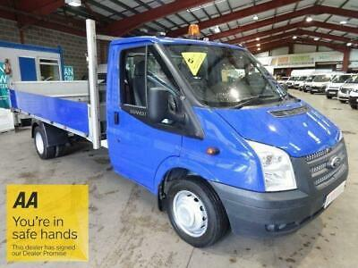 2013 13 Ford Transit 2.2 350 Twin Wheel Ef Lwb Dropside / Pick Up With Tail Lift