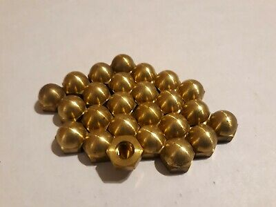 1/4-20 Hex Cap Nuts Solid Brass Quantity 25