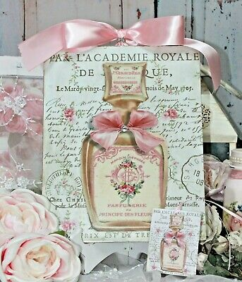 "~ Shabby Chic Vintage French Country Cottage Wall/Table Decor. ""Parfumerie..."" ~"