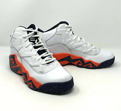 FILA MB Jamal Washburn Retro Basketball Shoes, Mens Size 11, White Orange